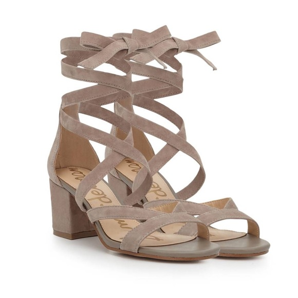 ae0943a296a Sheri Ankle Wrap Block Heel. Brand new. Putty.
